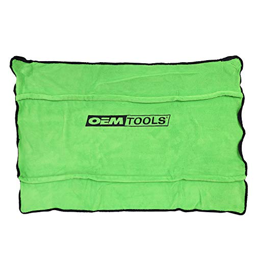 OEM TOOLS 24899 Soft Fleece Fender Cover | Protect Your Paint Job While You Work on Your Car | Fleece is Machine Washable | 42 in. x 24 in. | Green