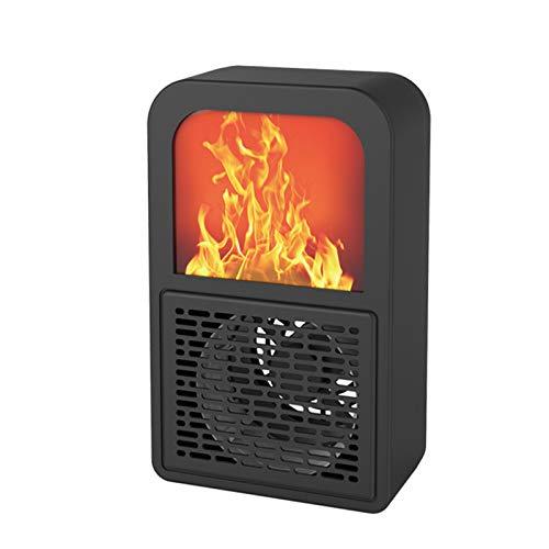 YQYJX Electric Heater, 3D Fireplace Flame Design, Small Desktop Heater, Fan Heater, Simple Operation, Home Office