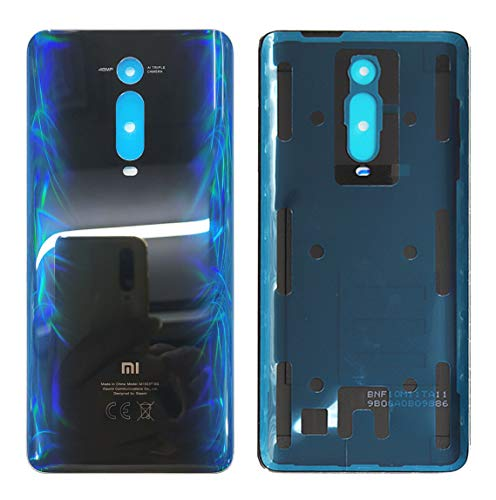 Iiseon Coperchio della Batteria per Xiaomi Mi 9T PRO M1903F11G / Xiaomi Mi9T M1903F10G 6.39inch Carbon Vetro Posteriore Sostituzione Alloggiamento Sportello (Blu)