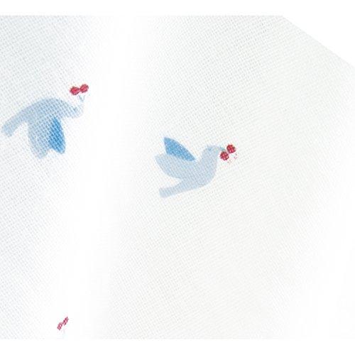 コンビミニ(Combimini)ワンタッチ肌着新生児ガーゼ半袖[60~70/トリ]ベビー服肌着男女兼用(ブルー)224902