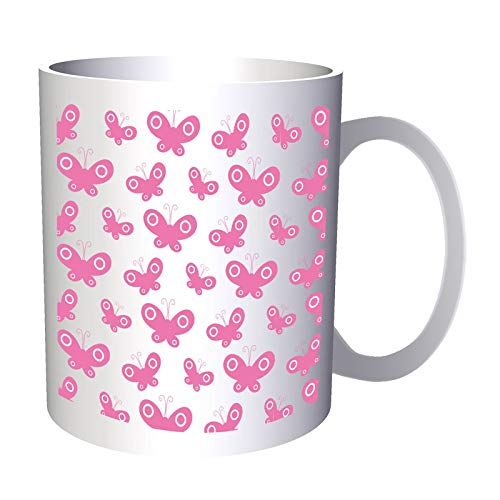 Pink Butterflyes Background 330 ml taza ee603