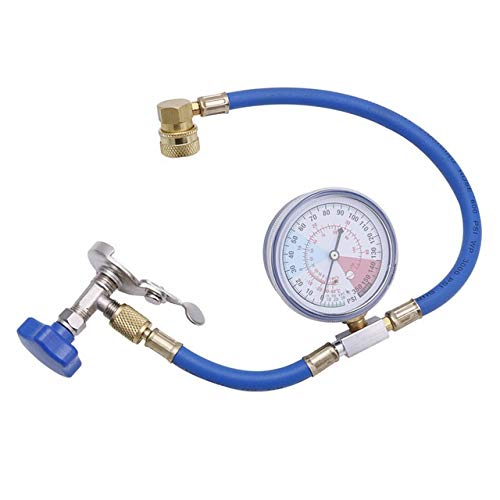 Núcleo de válvula de Aire Acondicionado R134A Aire Acondicionado Recarga de medición Manguera del indicador de la válvula Tubo de refrigerante Reemplazo (Color : Blue)