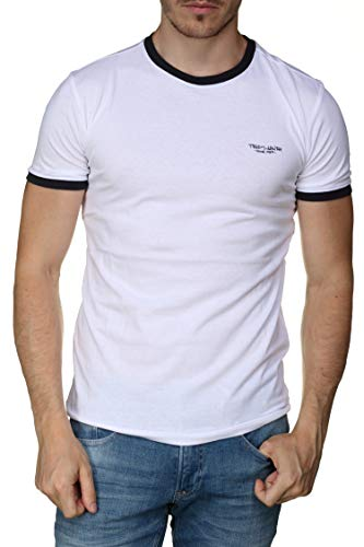 Teddy Smith The-Tee MC T-Shirt Homme, Blanc (Blanc 202), Large (Taille Fabricant:L)