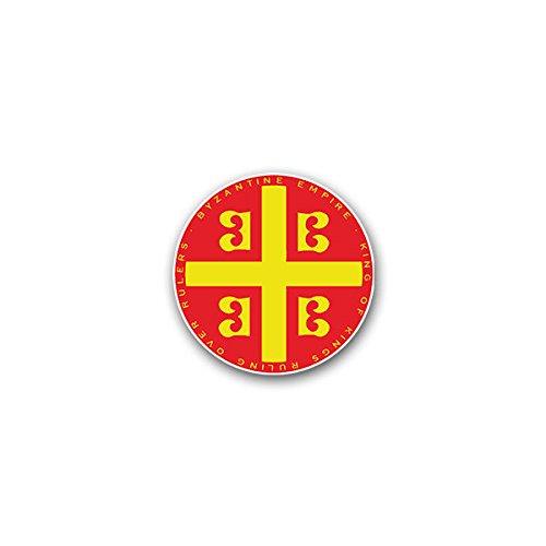 Copytec Aufkleber/Sticker -Byzantinisches Reich 3 Byzanz Oströmische Reich Ostrom Kaiserreich Herrscher Eroberer König Wappen Emblem 7x7 cm #A2293