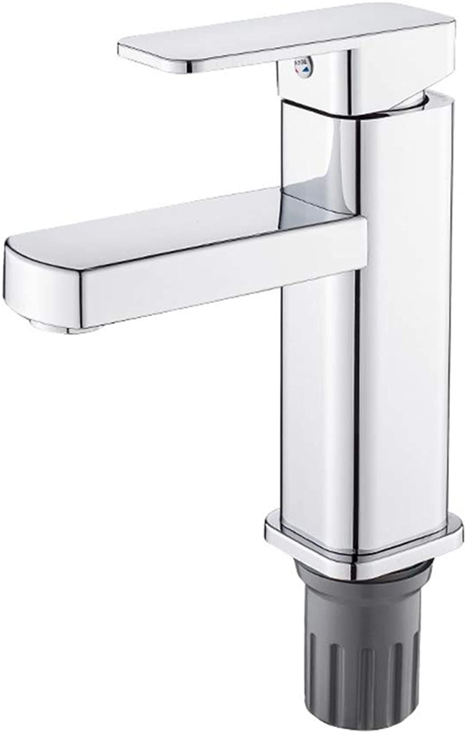 Taps Basin Mixer, Modern Copper Single Lever Bathroom Sink Hot Cold Faucet Chrome Finish Cold and Hot