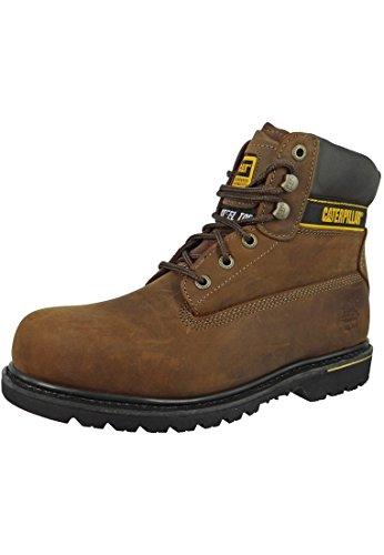 Cat Footwear Holton S3 - Botas de seguridad para hombre, color marrón, talla 45