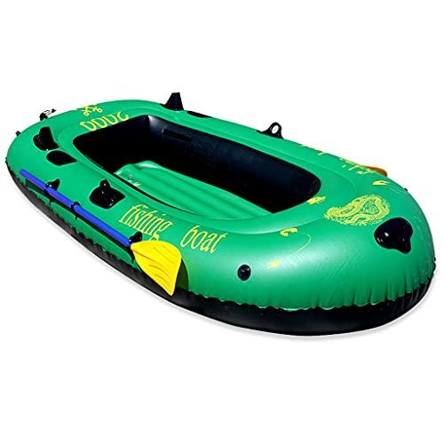 ZXQZ Kayak Kayak Inflable, Barco de Pesca de Deportes Al Aire Libre, Canoa Gruesa, Bote Portátil, Aerodeslizador para Adultos, Barco de Asalto de Movimiento de 2 Personas