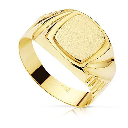 Sello oro 18k niño tallado. Recomendado para niños o uso en el dedo meñique.