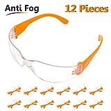 Pack 12 Gafas Protectoras Trabajo con Lentes Transparentes...