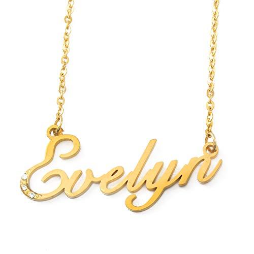 Kigu Evelyn - Nombre Personalizado, Color Dorado