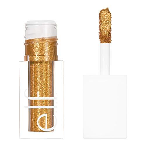 e.l.f., Liquid Glitter Eyeshadow, Long Lasting, Quick-Drying, Opaque, Gel-Based Formula, Creates High-Impact, Multi-Dimensional Eye Looks, 24K Gold, 0.10 Fl Oz