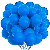 Songjum 50 paquetes de globos de látex, globos de látex de 12 pulgadas, kit de decoración de globos para fiesta, cumpleaños, boda, graduación, aniversario, celebración (Azul)