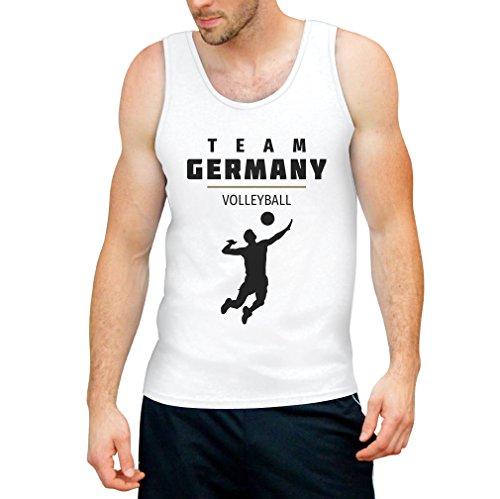 Shirtgeil Herren Volleyball Team Germany Olympische Spiele Tank Top X-Large Hellblau