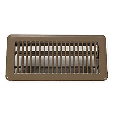 Rocky Mountain Goods Floor Register Vent Cover - 4-Inch by 10-Inch - Easy Adjust air Supply Lever - Premium Finish - Heavy Duty to Allow Walk on use