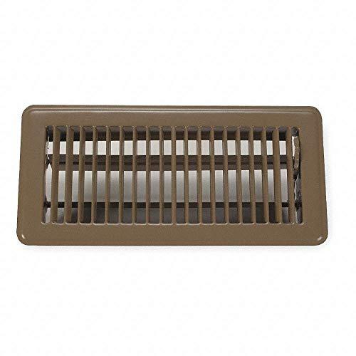 Rocky Mountain Goods - Rejilla de ventilación para suelo (3.9 x 9.8in), fácil de ajustar la palanca de suministro de aire, acabado premium, resistente para permitir caminar en uso (marrón)
