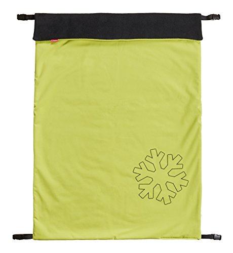 ByBoom - Softshell Decke 70x100 cm Thermo Aktiv; Funktions-/Universal-/Outdoor-Babydecke für Kinderwagen, Buggy, Jogger, Farbe:Limette/Schwarz
