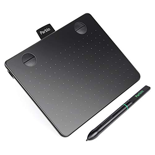 Parblo Drawing Tablet A640 6x4 Pollici Grafica Digitale Disegna Tablet con 8192 Livelli Pressione Penna passiva Stilo Senza Batteria e 4 Tasti di Scelta Rapida Drawing Tablet A640