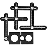 Wzone Foratura localizzatore, Angleizer template Tool aluminum alloy Jig foro bit carpenteria drill guide localizzatore regolabile Jig perforazione strumento per falegnami, hobbisti, costruttori