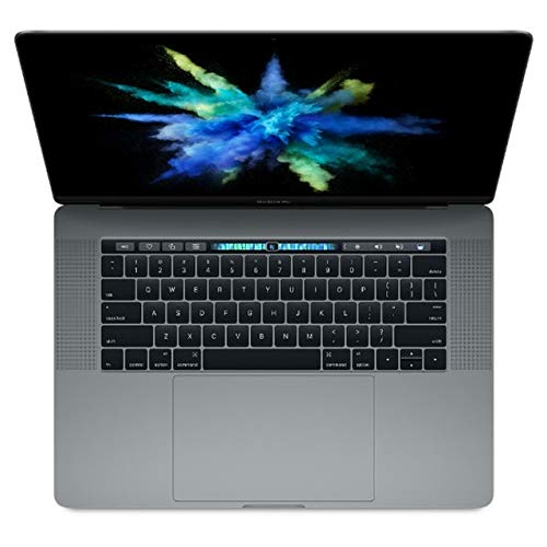 Apple MacBook Pro MLH42LL/A 15-inch Laptop with Touch Bar, 2.9GHz Quad-core Intel Core i7, 16GB Memory,1TB SSD, Retina Display - Space Gray (Renewed)