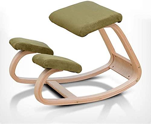 Sleinform Ergonomischer Knienstuhl | Back Correction Haltung Holzhocker für Büro & Amp Home | Rückenstütze Nackenschmerzen & Amp-Wirbelsäulenspannungsentlastung | Rocking Knien-Sitz mit orthopädi