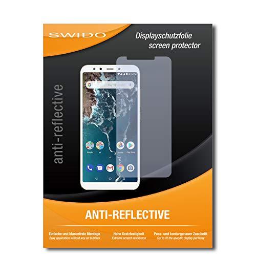 SWIDO Bildschirmschutz für Xiaomi Mi A2 [4 Stück] Anti-Reflex MATT Entspiegelnd, Hoher Festigkeitgrad, Schutz vor Kratzer/Glasfolie, Schutzfolie, Bildschirmschutzfolie, Panzerglas Folie