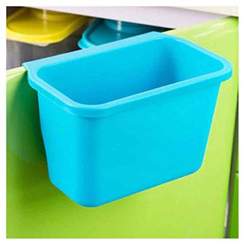 Ularma Küchenschrank Küchen hängen Müllsackständer Plastik Lagerung Hängeleiste Hängende Aufbewahrungsbox (blau)