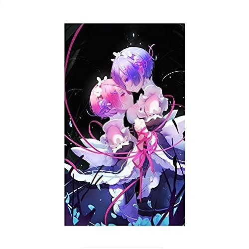 auto stickers Zero Rem en Ram Anime Girls Car Decoration Stickers Vinyl Laptop Decal (Color Name : FC665-D, Size : 15cm(5.90inch))