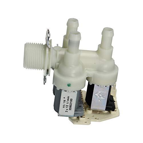 LUTH Premium Profi Parts inlaatventiel magneetventiel drievoudig ventiel 230V voor wasmachine geschikt voor Miele 4035200
