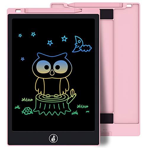 Sunany 11 Pulgadas Color Tableta de Escritura LCD, Tableta Escritura con Teclas Borrables, Regalos para Niños, Portátil LCD Writing Tablet para Niños, Escuela, Oficina (Rosa)