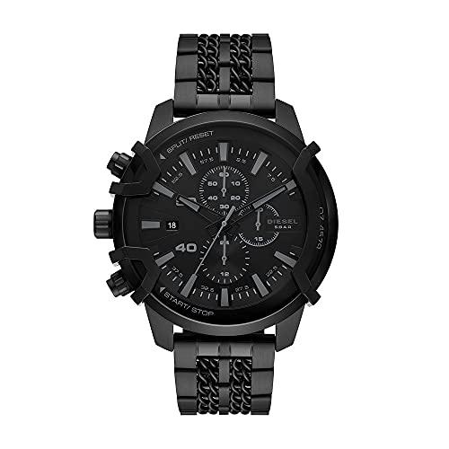 Diesel - Cronógrafo Griffed para Hombre, Reloj de Acero Inoxidable en Tono Negro, DZ4579