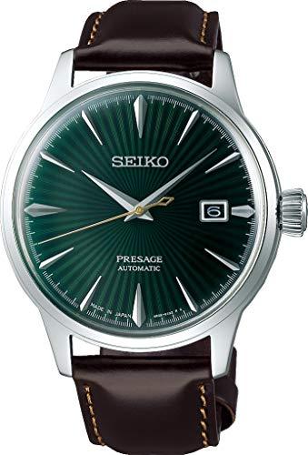 Seiko presage Mens Analog Automatic Watch with Leather Bracelet...
