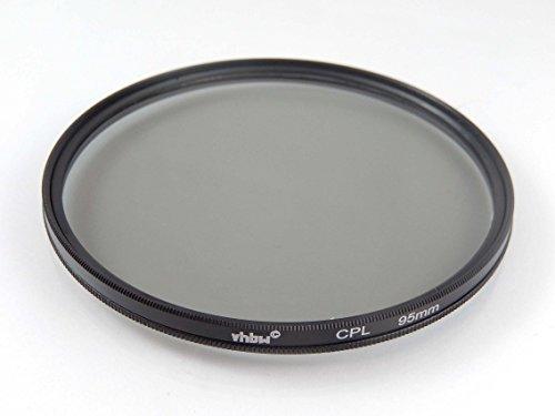 vhbw Universal Polarisationsfilter kompatibel mit Kamera Objektiven mit 95mm Filtergewinde - Zirkularer Polfilter (CPL), Schwarz
