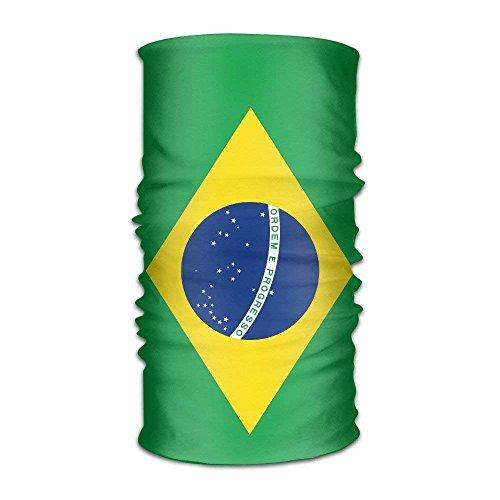 Ejdkdo Headband Bandanas Flag of Brazil Versatile Casual Headscarf Neck Gaiter Balaclava Helmet Liner Riding Face Mask for Kids Women Men Outdoors UV Protection Outdoor12