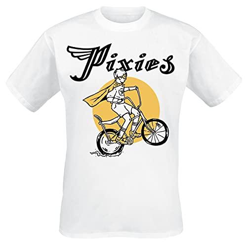 Pixies Tony Hombre Camiseta Blanco M, 100% algodón, Regular
