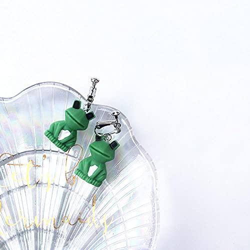 XAOQW Cartoon Frosch Bär Hase Ohrringe Weibliches Modell Farbe Süße Mode Charme Anime Anhänger Ohrringe Schmuck-6