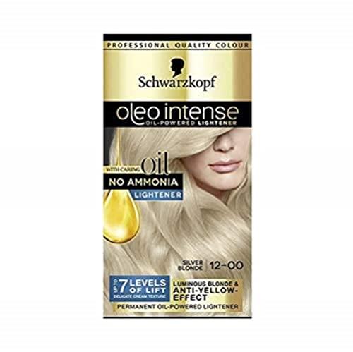 Schwarzkopf Oleo Intense Blonde Haarfärbemittel, 12-00 Silberblond