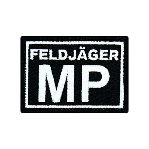 Café Viereck ® Bundeswehr Feldjäger MP Patch Abzeichen Gestickt mit Klett - 7 x 5 cm