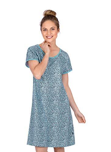 Trigema Damen Knielanges Nachthemd mit V-Ausschnitt