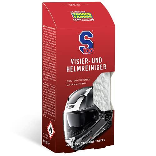 Dr. Wack - S100 Visier- & Helmreiniger 100 ml inkl. Mikrofasertuch I Premium Visier-Reiniger für alle Motorradhelme I Für die schnelle Reinigung unterwegs I Hochwertige Helmpflege – Made in Germany