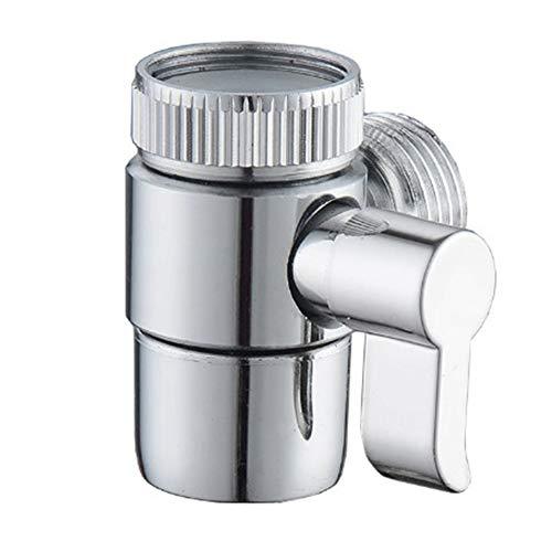 1 Pieza Válvula Desviador, Desviador de 2 Vías, Desviador de Aleación para Fregadero de Cocina o Baño, para Ducha de Mano Componentes Universales de Ducha, M22 x M24