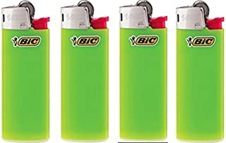 BIC Lot of 4 Mini Lime Green Lighters New