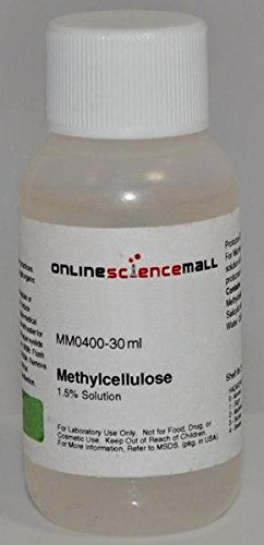 Methyl Cellulose Solution (Wood Starch), 1.5% Protozoa Quieting Solution, 30mL - Lab Grade Reagent