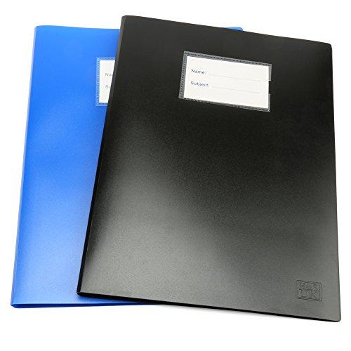 H&S 2 Display Book Folder A4 100 Pockets Presentation Project Folders Soft...