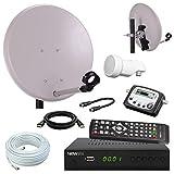 netshop 25 Digital Camping SAT Anlage 40 cm Spiegel + HD Sat Receiver + Digitaler SAT Finder + HD...