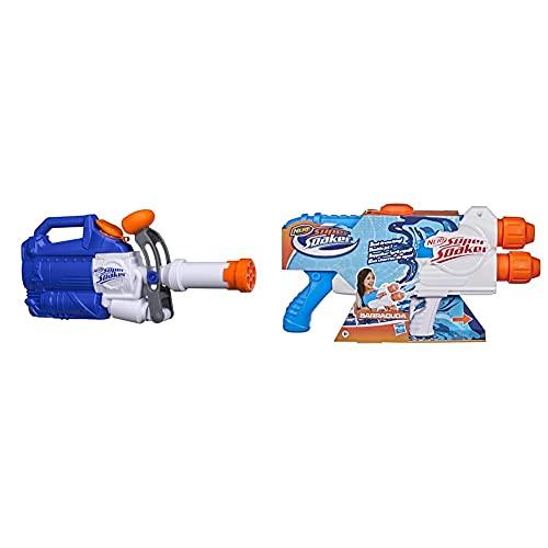Hasbro Nerf Giocattolo Blaster Soakzooka, E0022Eu4 & Nerf Super Soaker Barracuda, Blaster Spruzza Acqua, Pistola Ad Acqua Giocattolo Con Serbatoio Da 1 Litro D'Acqua