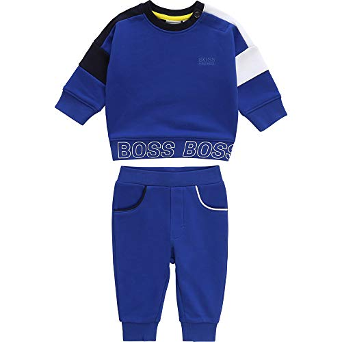 BOSS Ensemble de Jogging molletonné Layette Wave Blue 6MOIS