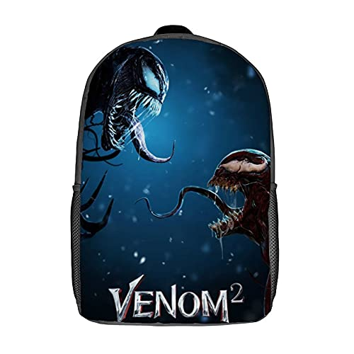 Venom 2 Unisex Cute Backpack Boys and Girls Backpacks Bookbags for Teens Travel Cycling (16 inch)