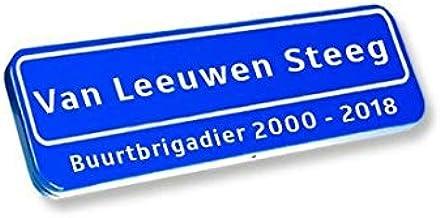 Origineel Straatnaambord, Tekst In/onder Kader 50x15cm