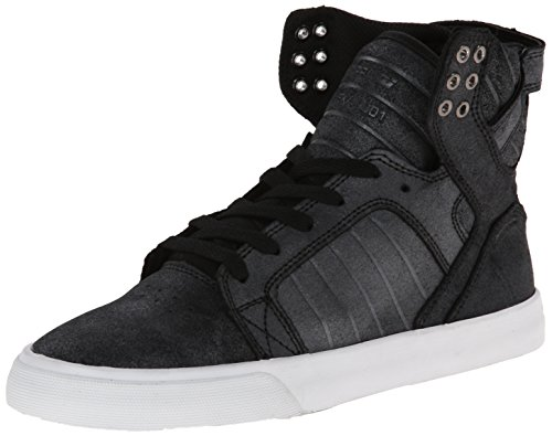 Supra Damen Womens Skytop High-Top, Schwarz (Black/METALLIC - White BMT), 37.5 EU