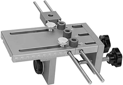 Guía de perforación JIG, Kit de guía de brocas Jig Dowell, 3 en 1 Woodworking Agujero auto centrado en la madera Conjunto con varilla de extensión de 600 mm suficiente para muchas necesidades , Herram